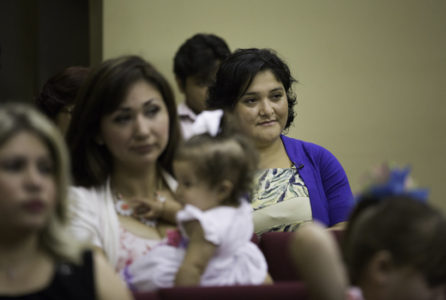 Alba Caceres attends church in McAllen. In 2011, after many of her countrymen began to go missing in the area, she was tasked with opening the first Guatemalan Consulate in south Texas.