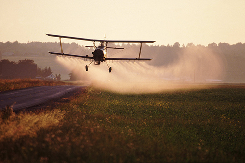 Aircraft spraying pesticides | Credit: COURTESY TPMARTINS