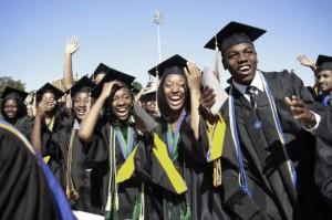 The 2010 graduating class at Hampton University in Virginia May 9, 2010.   Credit: REUTERS/JASON REED
