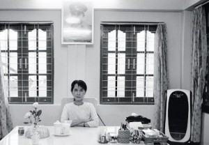 Aung San Suu Kyi, in her bungalow in Rangoon, April 1, 1998 | Credit: COURTESY JOACHIM LADEFOGED / VII
