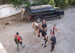 Blackwater forces at the Republican Palace in Baghdad's Green Zone