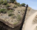 A security wall separating Nogales in Mexico from Nogales in Arizona. | Credit: JEFF TOPPING/GETTY IMAGES