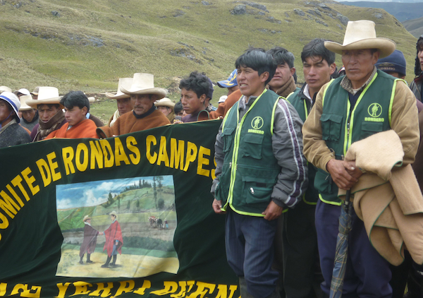 Campesino protesters gather at the proposed Conga mine site in northern Peru on World Water Day, March 22, 2012. | Credit: BILL WEINBERG