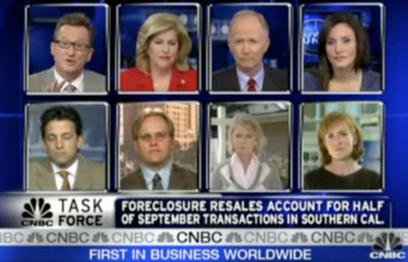 """The octobox, CNBC interviews eight specialsts on """"California Home Sales & the Economy,"""" aired October 22, 2008. 