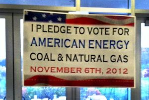 A sign posted recently inside a CONSOL Energy workplace. | Credit: COURTESTY OF LEE FANG