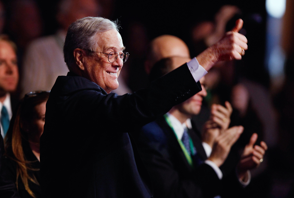 Americans for Prosperity Foundation chairman David H. Koch   Credit: CHIP SOMODEVILLA/GETTY IMAGES