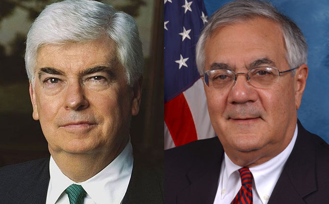 Senators Chris Dodd and Barney Frank