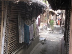 Narrow alleys in Beldangi I camp, eastern Nepal   Credit: DON DUNCAN