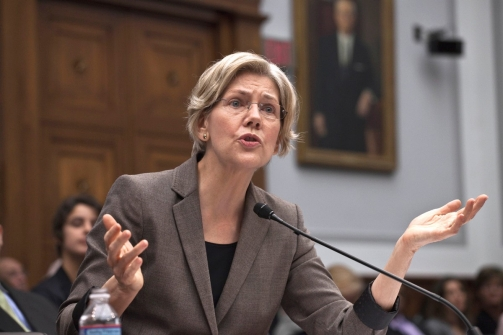 Elizabeth Warren at her previous Congressional hearing in March of this year. | Credit: HARRY HAMBURG, FILE/AP PHOTO