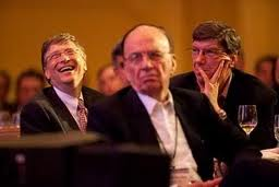 Bill Gates and Rupert Murdoch, two of the tycoons who stand to benefit from a wave of school privatization laws, at a Microsoft CEO Summit in 2009.   Credit: MICROSOFT