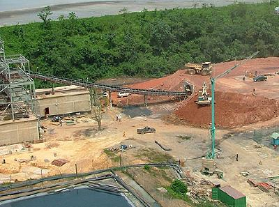 Crushed ore stockpile at the Bogosu Gold mine, owned by Golden Star Resources, a US firm. | Credit: COURTESY GOLDEN STAR RESOURCES