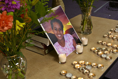 A memorial for Hana | Credit: PHOTO COURTESY SEATTLE ETHIOPIAN COMMUNITY CENTER