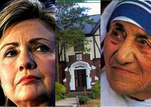 Hillary Clinton, the D.C. house, since sold, that was intended for an orphanage, and Mother Teresa.