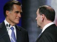 Mitt Romney and Mike Huckabee | Credit: AP