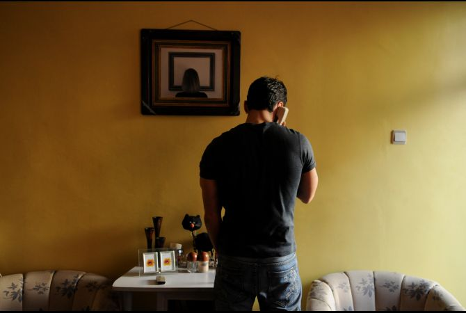Babak, 31, arrived in Kayseri in December 2007. He said he knew he would be going to Los Angeles, pending his final interview and medical exam. He was caught having sex by his boyfriend's father, part of the Ira...   Credit: GLOBAL POST/KATE BROOKS