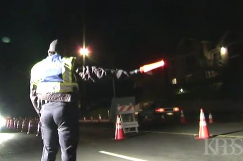 Escondido police at a DUI checkpoint