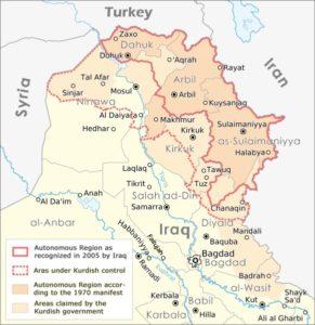 Kurdistan map   Credit: MAXIMILIAN DÖRRBECKER