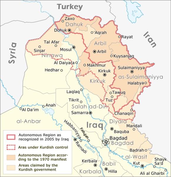 Kurdistan map | Credit: MAXIMILIAN DÖRRBECKER