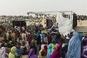 Audience at the world music Festival au Desert near Timbuktu, Mali in January 2012. | Credit: COURTESY ALFRED WEIDINGER