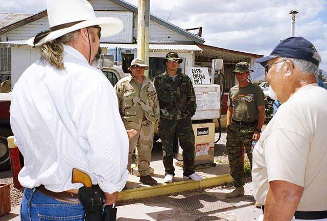 Minuteman gather near Tombstone, Arizona in 2005 | Credit: MARK EBNER
