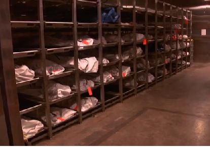 The unidentified bodies of migrants in the Pima County, Arizona, morgue.