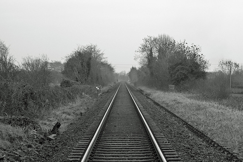 A railroad in Northern Ireland | Credit: DMODER101