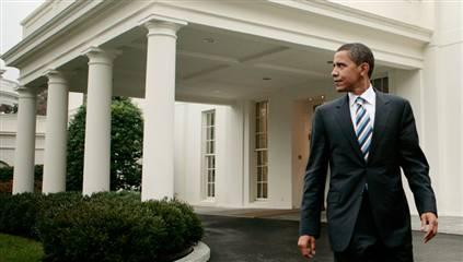 President Obama outside the White House