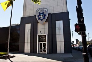 Oakland police headquarters in downtown Oakland, California | Credit: JORGE RIVAS/COLORLINES.COM