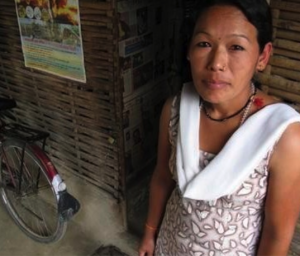 Dawadolma Tamang's husband died while making explosives in Siliguri.   Credit: DON DUNCAN