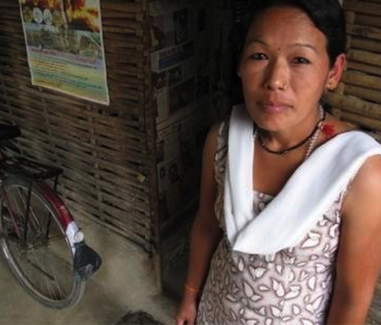 Dawadolma Tamang's husband died while making explosives in Siliguri. | Credit: DON DUNCAN