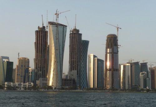 Skyscrapers under construction in Qatar | Credit: NORTHWESTERN UNIVERSITY