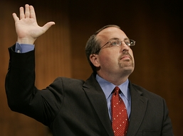 As the Justice Department's acting civil rights chief, Bradley Schlozman insisted on filing a lawsuit that accused Missouri's secretary of state, a Democrat, of failing to purge supposedly ineligible voters. | Credit: SUSAN WALSH/AP