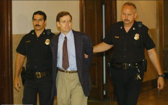James Kopp is led by into court in August 2002 in Buffalo, New York, to face trial in the murder of Dr. Bart Slepian. | Credit: LIFE.COM