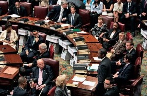 The New York State Senate meets in Albany, July 4, 2009. | Credit: AP