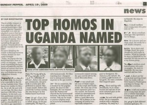 Uganda's popular tabloid Red Pepper takes part in an anti-gay witch hunt sparked by a proposed bill that would apply the death penalty to homosexuality