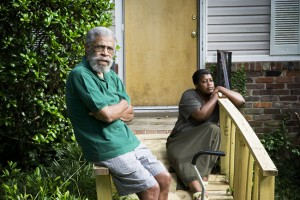 George Mitchell and his daughter Chandra Chavis in front of his home in Atlanta's Westwood neighborhood   Credit: CHRISTOPHER MARTIN
