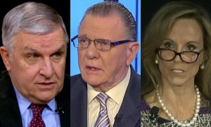 Retired General Anthony Zinni, retired General Jack Keane and former Bush administration official Fran Townsend.