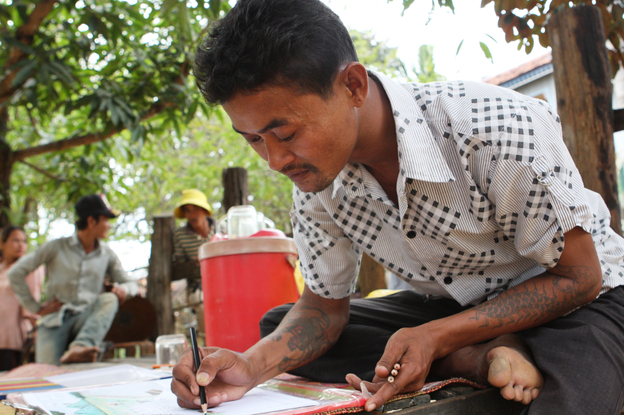 Vannak Prum of Cambodia was sold onto a Thai fishing boat where he was forced to work in miserable conditions for three years before escaping. Thailand's huge fishing industry is coming under increasing criticis... | Credit: SHANNON SERVICE AND BECKY PALMSTROM