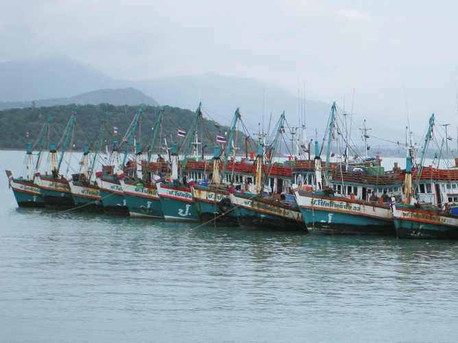 Thailand has a huge fishing fleet, but the industry is chronically short of fishermen. Human traffickers have recruited unsuspecting workers from Cambodia and Myanmar who end up spending months or even years at sea. | Credit: COURTESY GARETH JONES/FLICKR