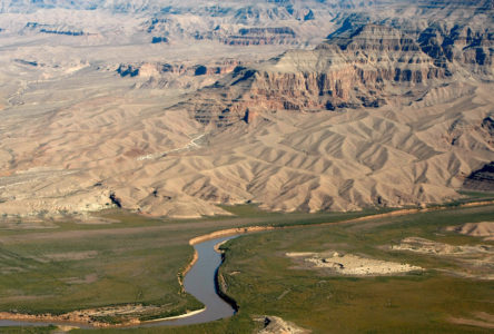 An aerial view near the West Rim of the Grand Canyon in Arizona, November 6, 2008.