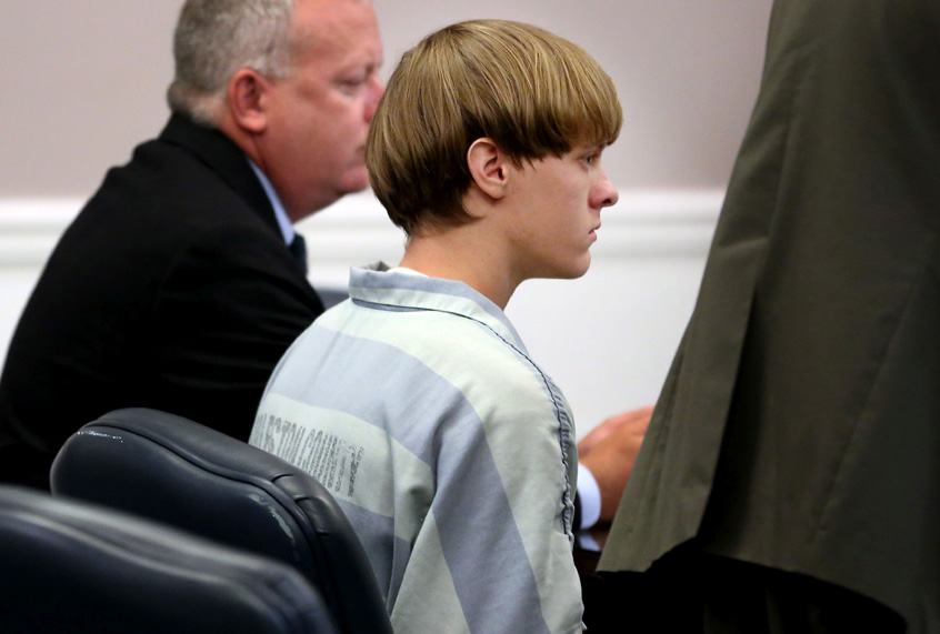 Dylann Roof appears in court in Charleston, South Carolina on July 18, 2015.