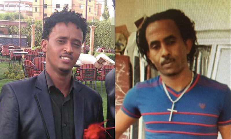 Facebook photos show that Berhe (left) bears no resemblance to Mered, the smuggler.