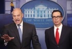 Treasury Secretary Steven Mnuchin And National Economic Director Gary Cohn brief the media at the White House.