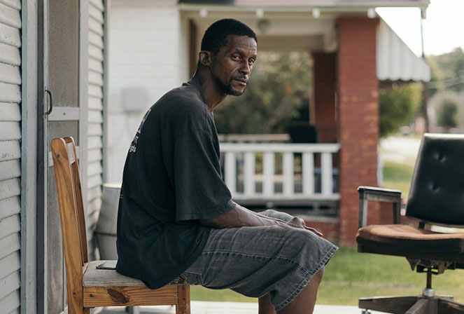 Joseph Gaines on the porch of his Doucette Avenue home, on June 6, 2017, in Beaumont, Texas.