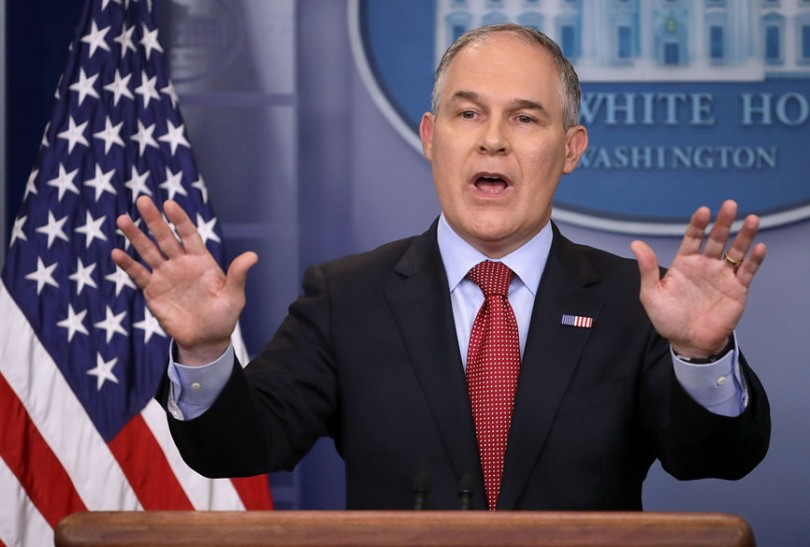 Environmental Protection Agency Administrator Scott Pruitt during a briefing at the White House June 2, 2017, in Washington, DC.