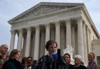 Jack Phillips speaks to members of the media in front of the U.S. Supreme Court on December 5, 2017.