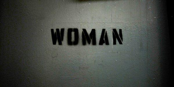 Rose M. Singer Center women's restroom sign. Rikers Island, New York City, November 23, 2011.