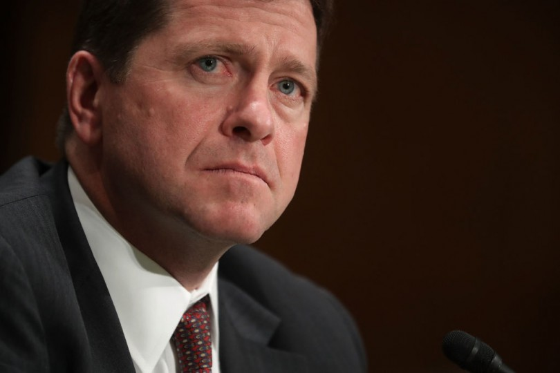 Jay Clayton testifies before the Senate Banking Committee during his confirmation hearing to become chairman of the Securities and Exchange Commission.