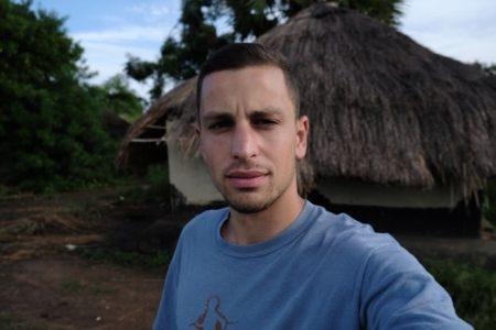 Christopher Allen, self-portrait at unknown location in South Sudan.