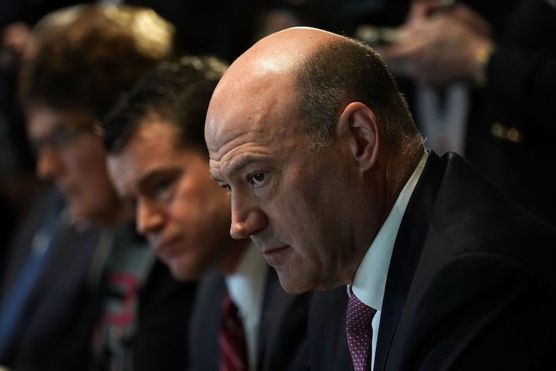 Gary Cohn attends a meeting between President Donald Trump and congressional members in the Cabinet Room of the White House February 13, 2018.